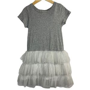 Gap grey dress tulle sparkly skirt size 5